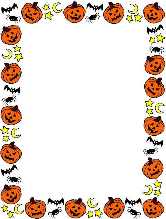 545x720 Halloween Clip Art Borders Halloween Border Clip Art Halloween