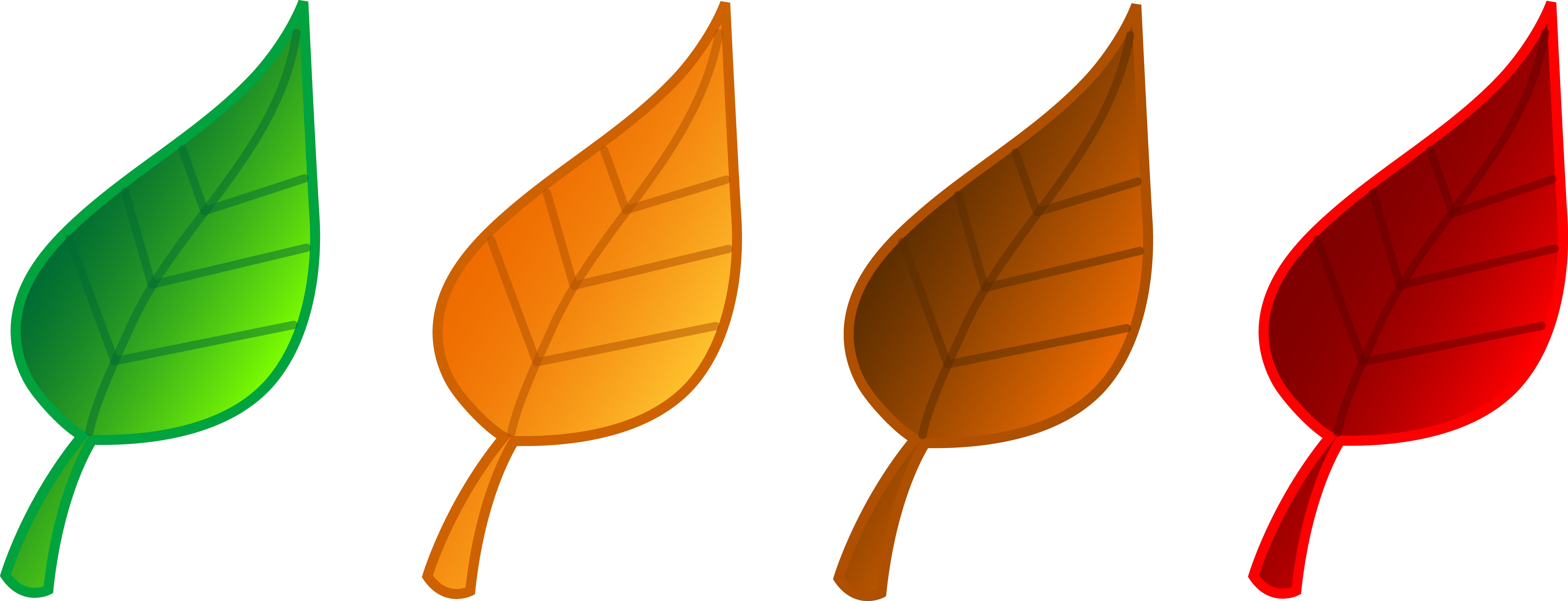 7840x3006 Autumn Leaves Clip Art