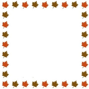 300x300 Fall Leaves Border Clipart Clipart Panda