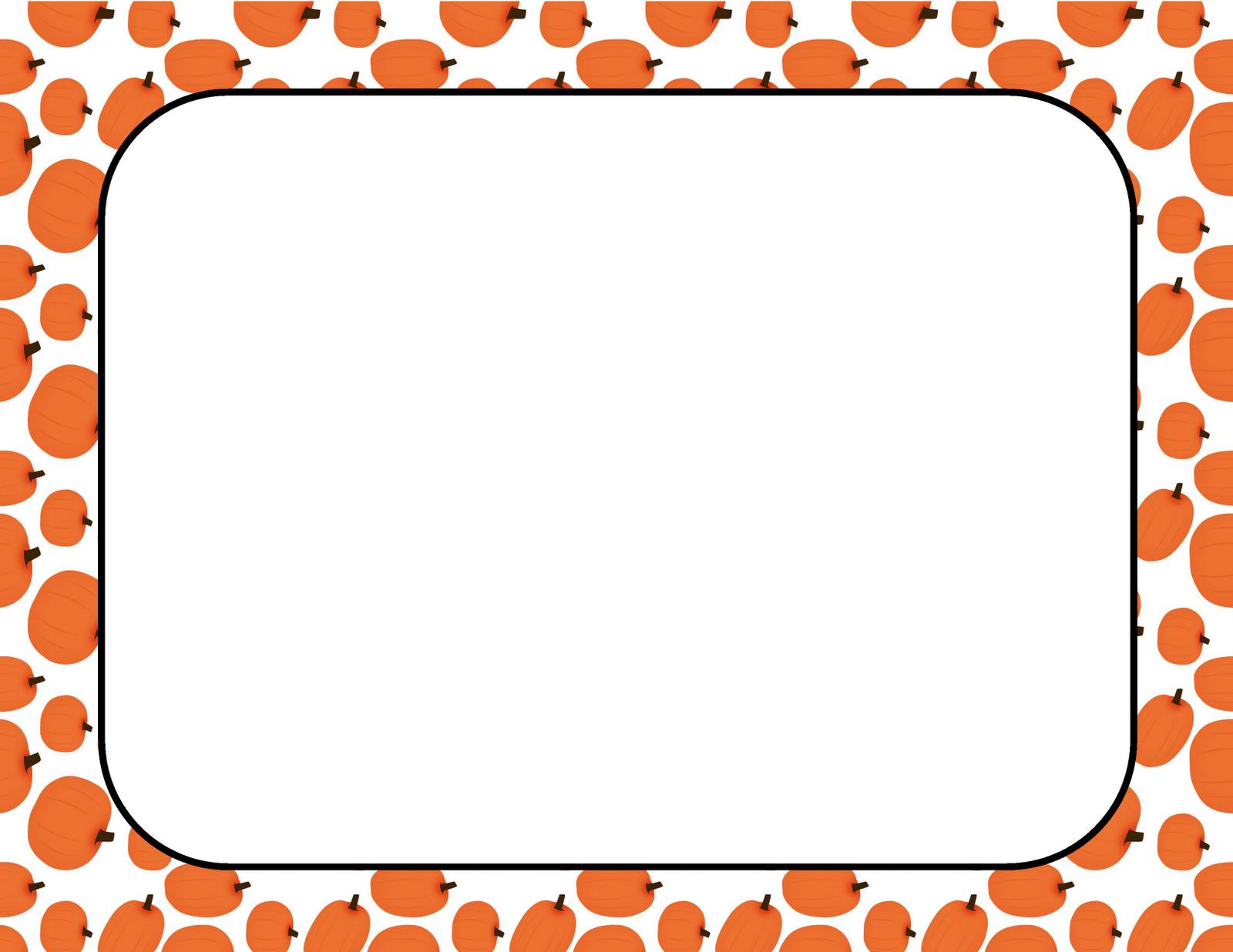 1600x1236 Fall Pumpkin Border Clipart