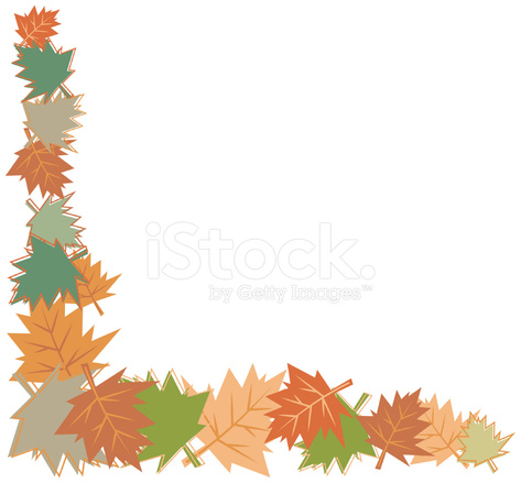 473x439 Fall Leaves Border Stock Vector