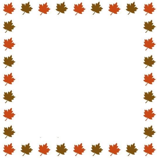 537x539 Fall Border Clip Art