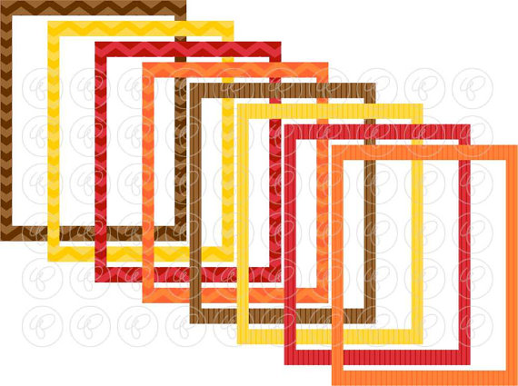 570x425 Fall Borders Frames Amp Labels Clip Art Pack Card Making