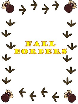 263x350 Fall Themed Borders By Clip Art Creations Al Teachers Pay Teachers