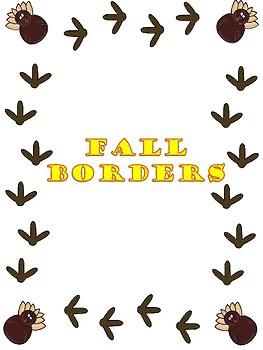 263x350 Fall Themed Borders By Clip Art Creations Al Teachers Pay Teachers