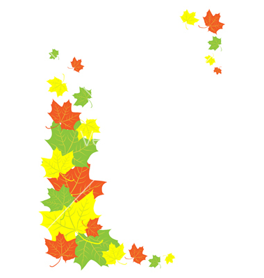 380x400 Fall Border Autumn Leaves Border Danasokg Top Clipart Image
