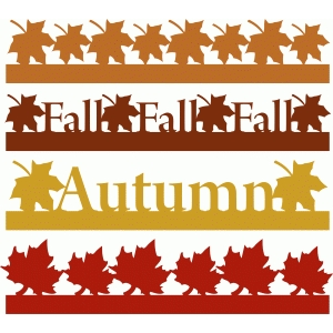 300x300 Silhouette Design Store Fall Amp Autumn Borders Set 1 Boarders