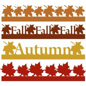 300x300 Silhouette Design Store Fall Amp Autumn Borders Set 1 Boarders