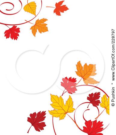 386x450 Autumn Leaves Border Clipart