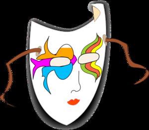 300x261 Carnival Mask Clip Art