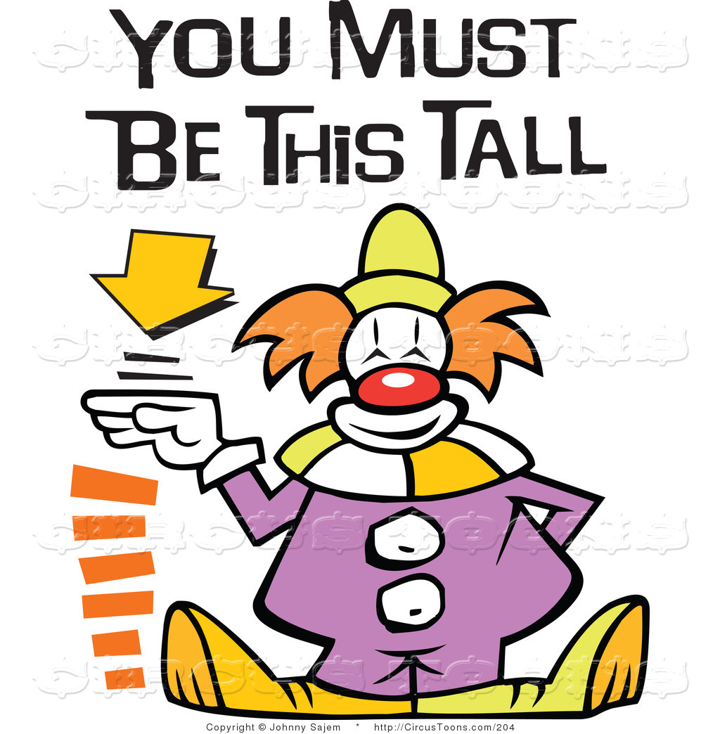 1024x1044 Circus Clipart Of A Cute Carnival Clown Standing By A Height Sign