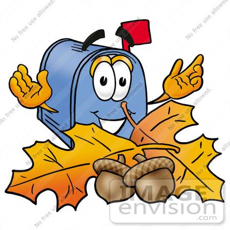 450x450 Clip Art Graphic Of A Blue Snail Mailbox Cartoon Character