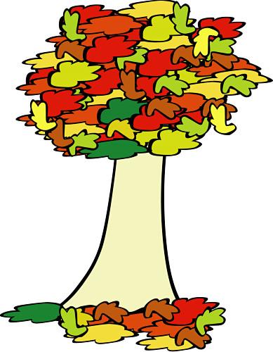 389x500 Cartoon Fall Tree