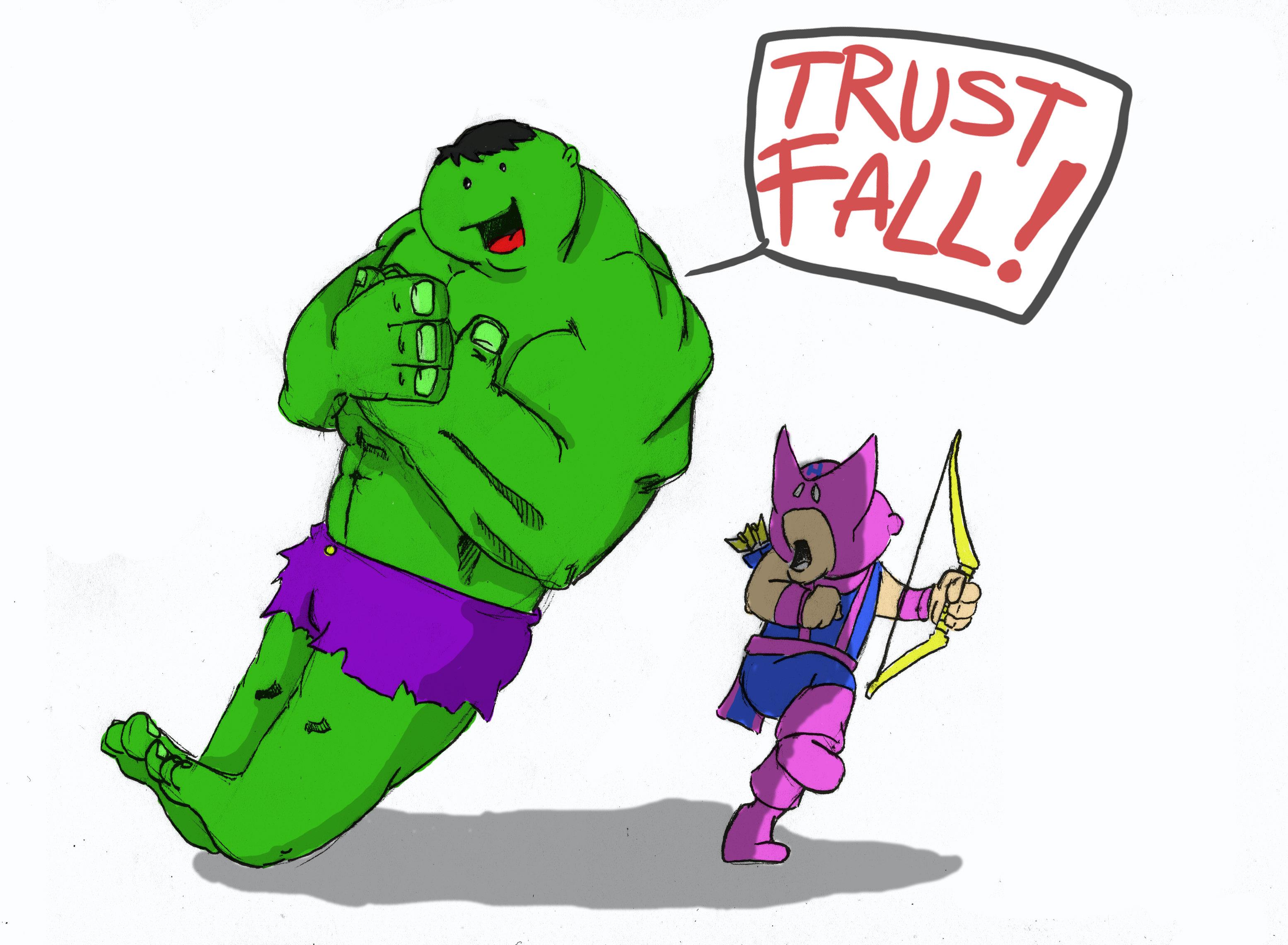 3109x2281 Trust Fall Oc