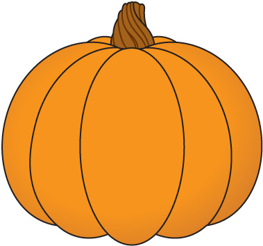 379x354 Fall Leaves And Pumpkins Clipart