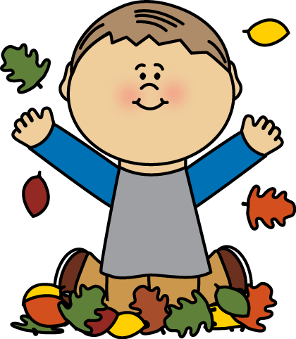420x482 Boy Playing In Leaves By Mycutegraphics Fall Clip Art