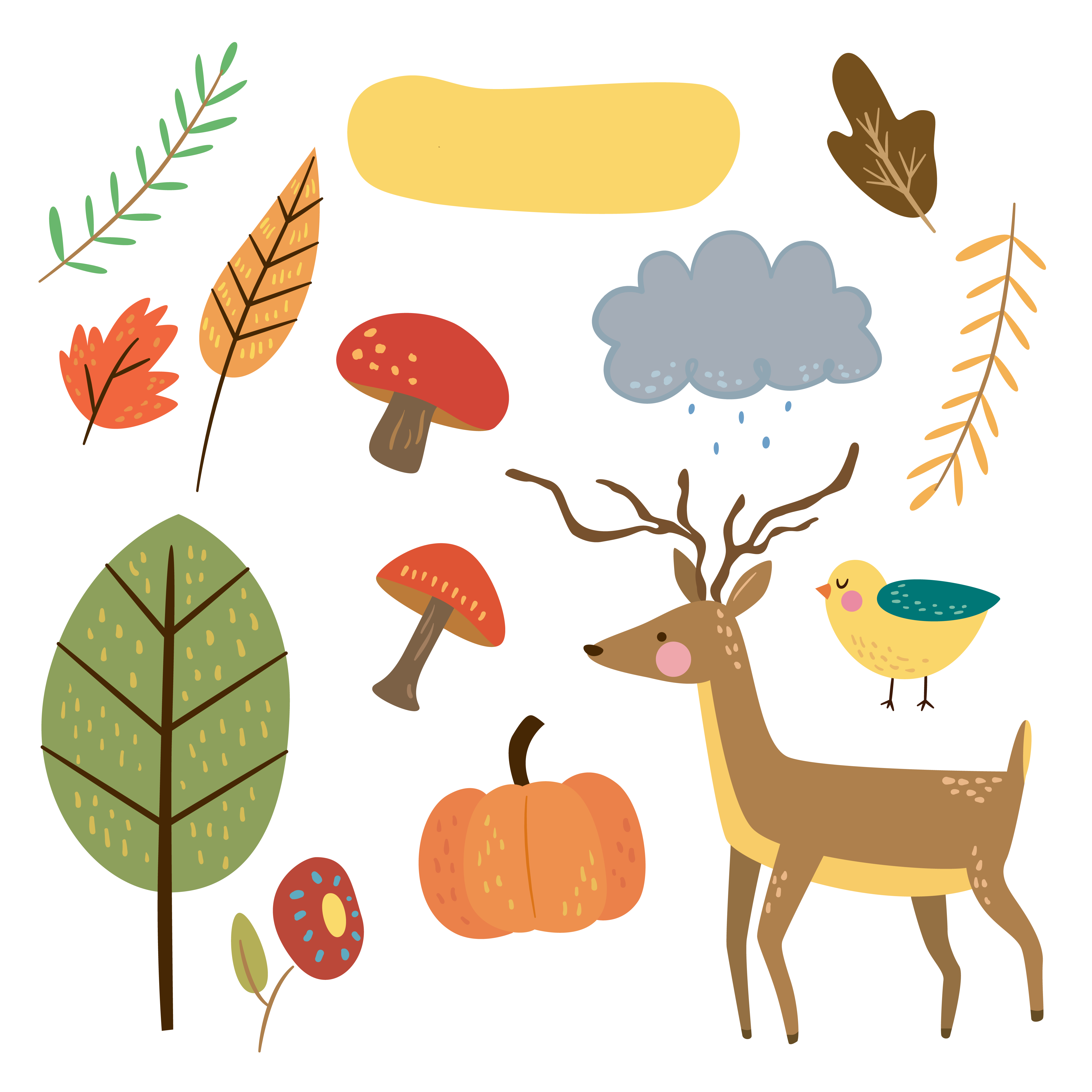 4500x4500 Free Critter Autumn Planner Stickers And Clip Art!