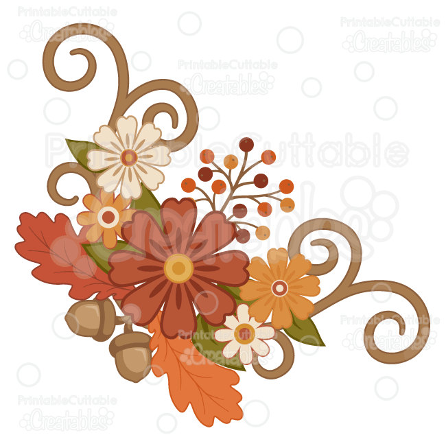 650x650 Orange Flower Clipart Fall Flower