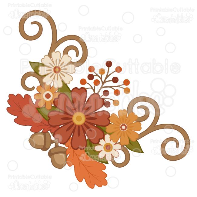 650x650 Orange Flower Clipart Fall Flower