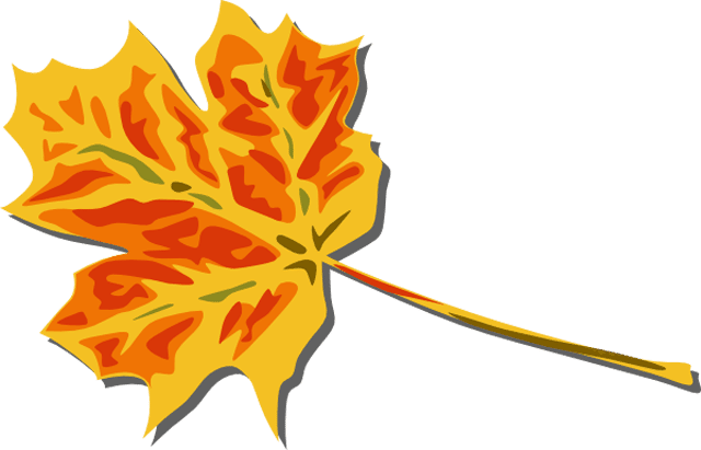 640x411 Clip Art Fall Leaves