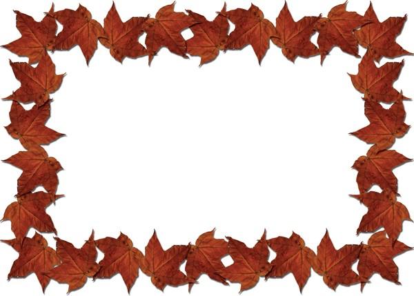 600x429 Fall Leaf Border Clipart
