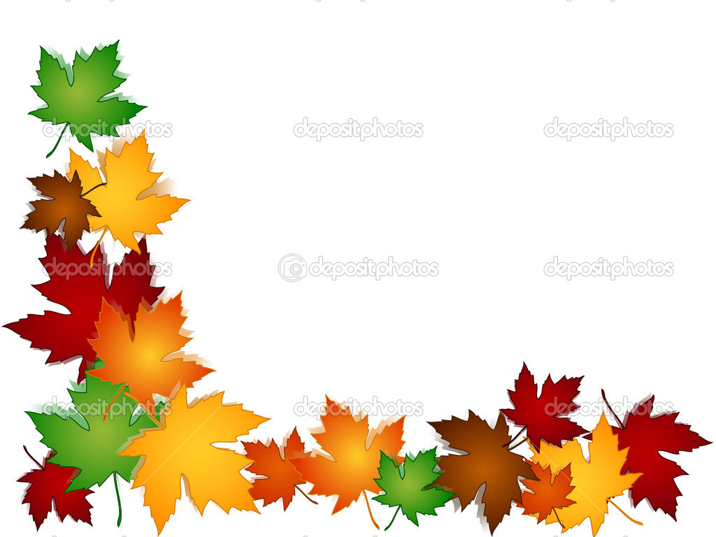 1024x768 Fall Leaves Border Clipart