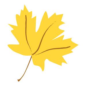 300x300 Yellow Fall Leaf Clip Art Clipart