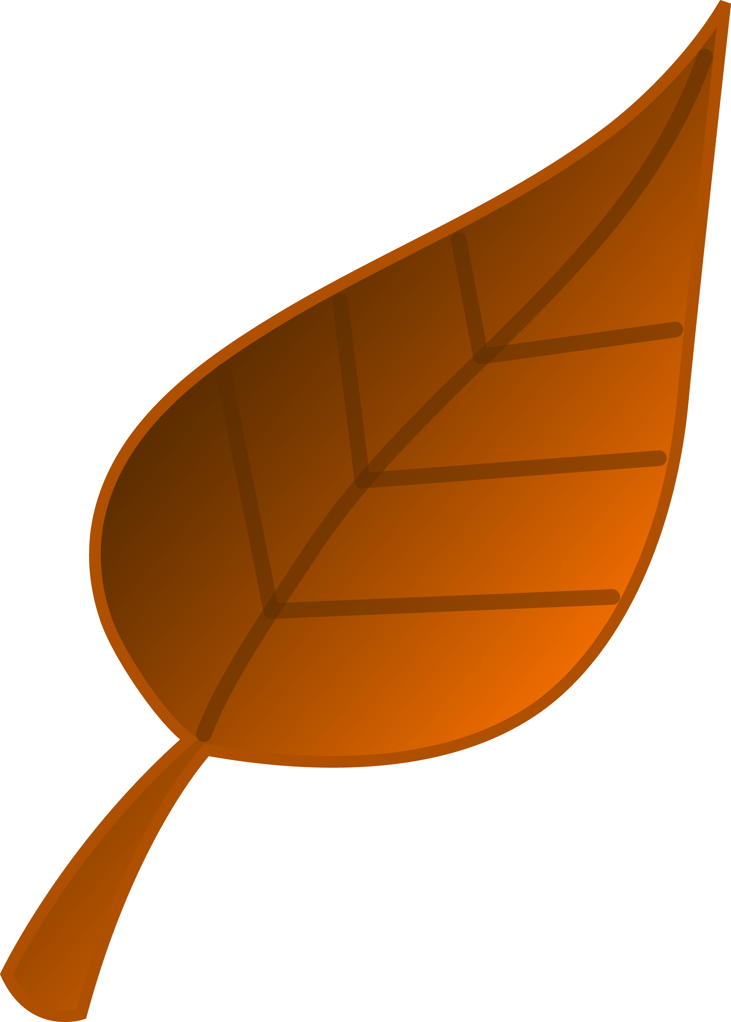 2504x3500 Brown Autumn Leaf Vector Art