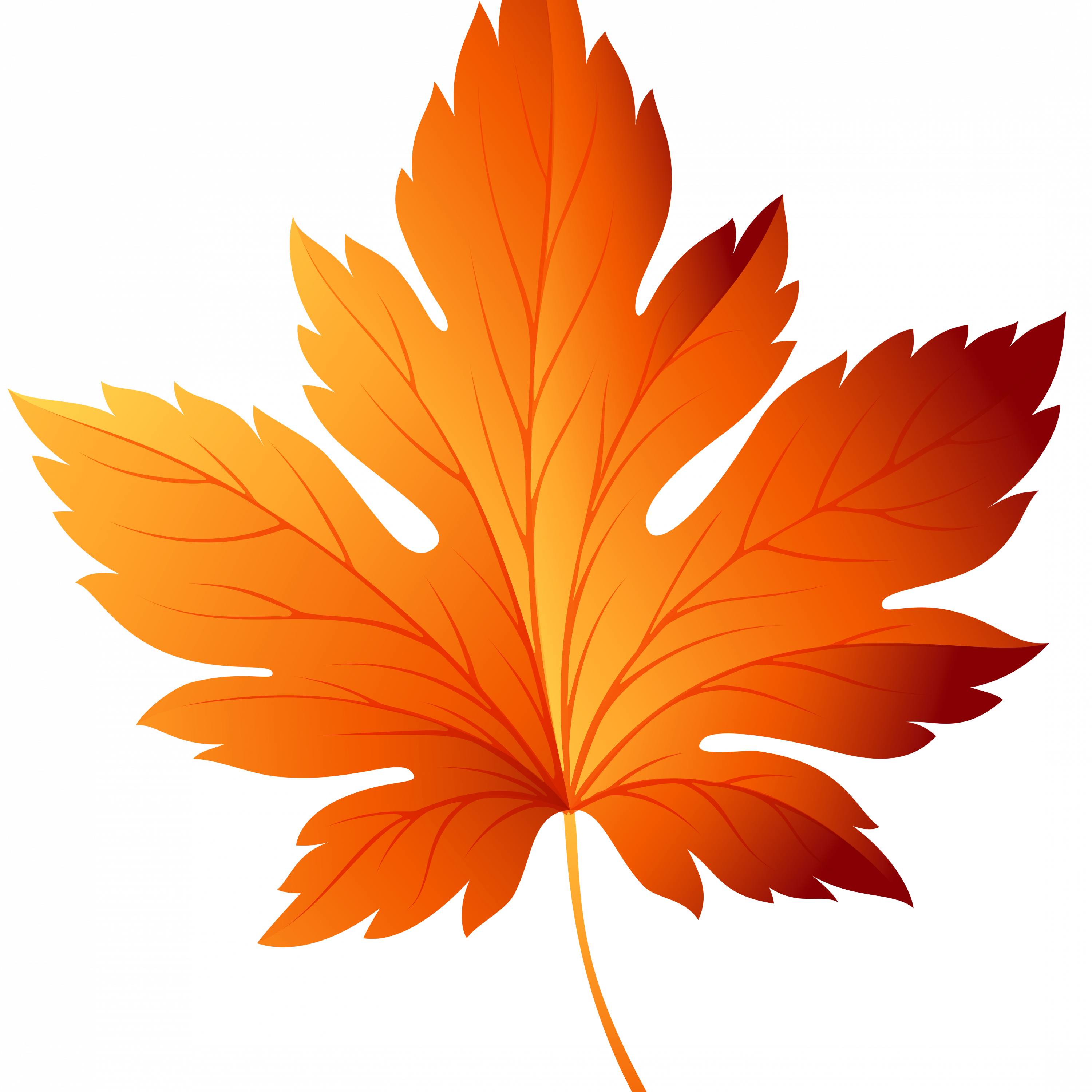 Fall Leaves Background Clipart