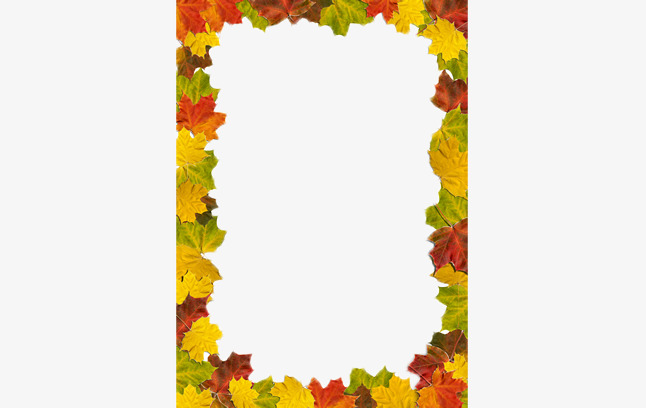 646x408 Golden Autumn Leaves Border, Frame, Fall, Leaves Png Image