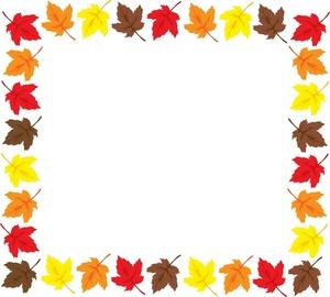 300x270 Fall Leaves Clipart Black And White Border Clipart Panda