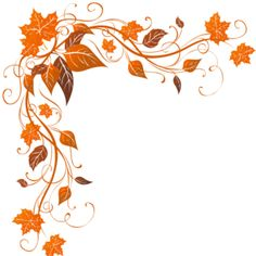 236x236 Fall Leaves Page Border Clipart
