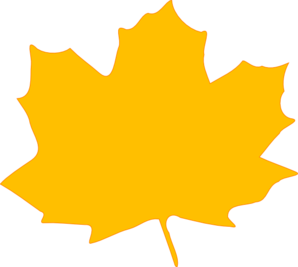 298x267 Yellow Fall Leaf Clip Art