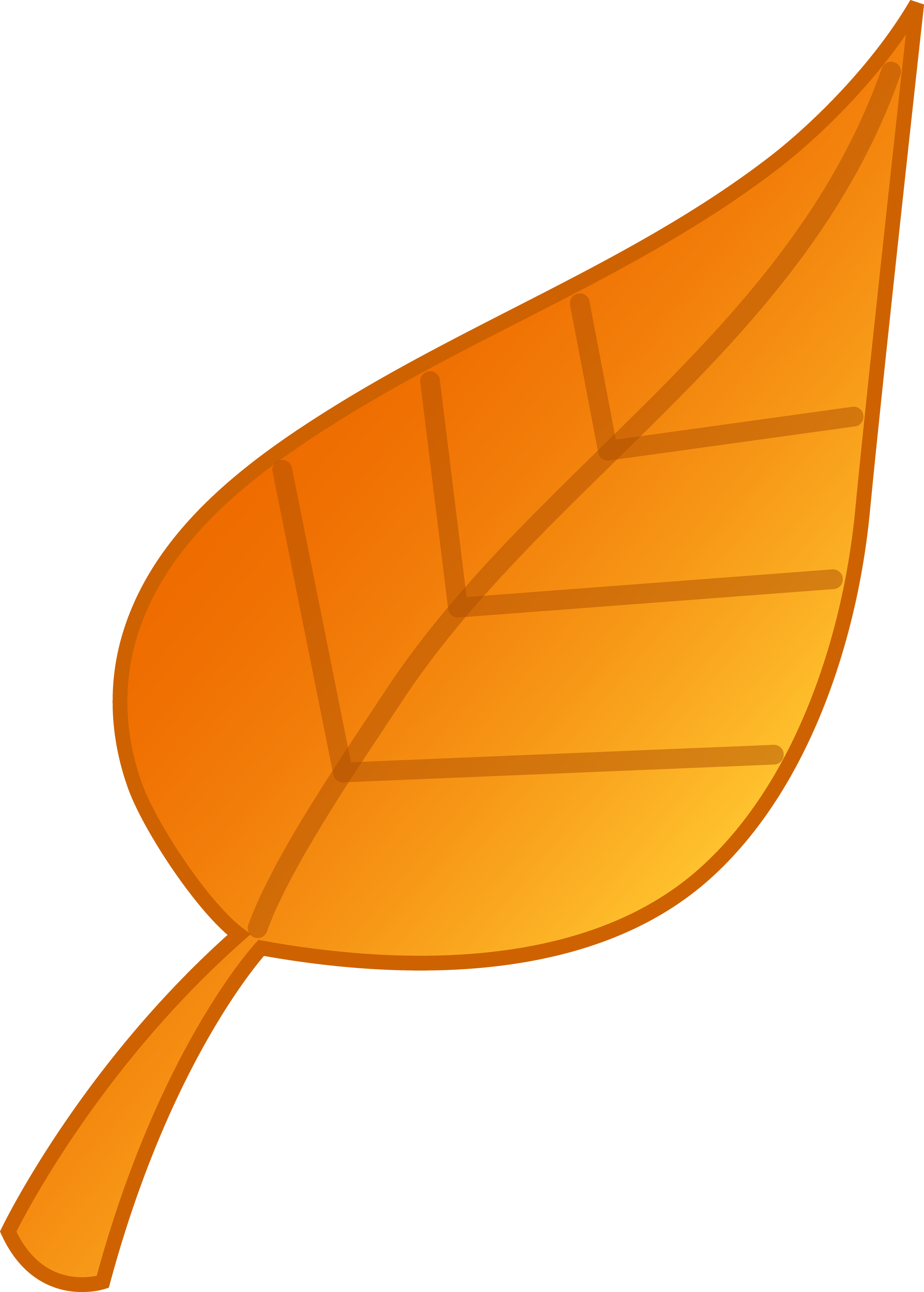 2504x3500 Simple Golden Leaf Vector Art