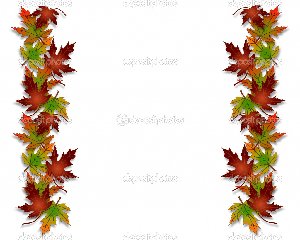 1024x819 Fall Flower Border Clip Art