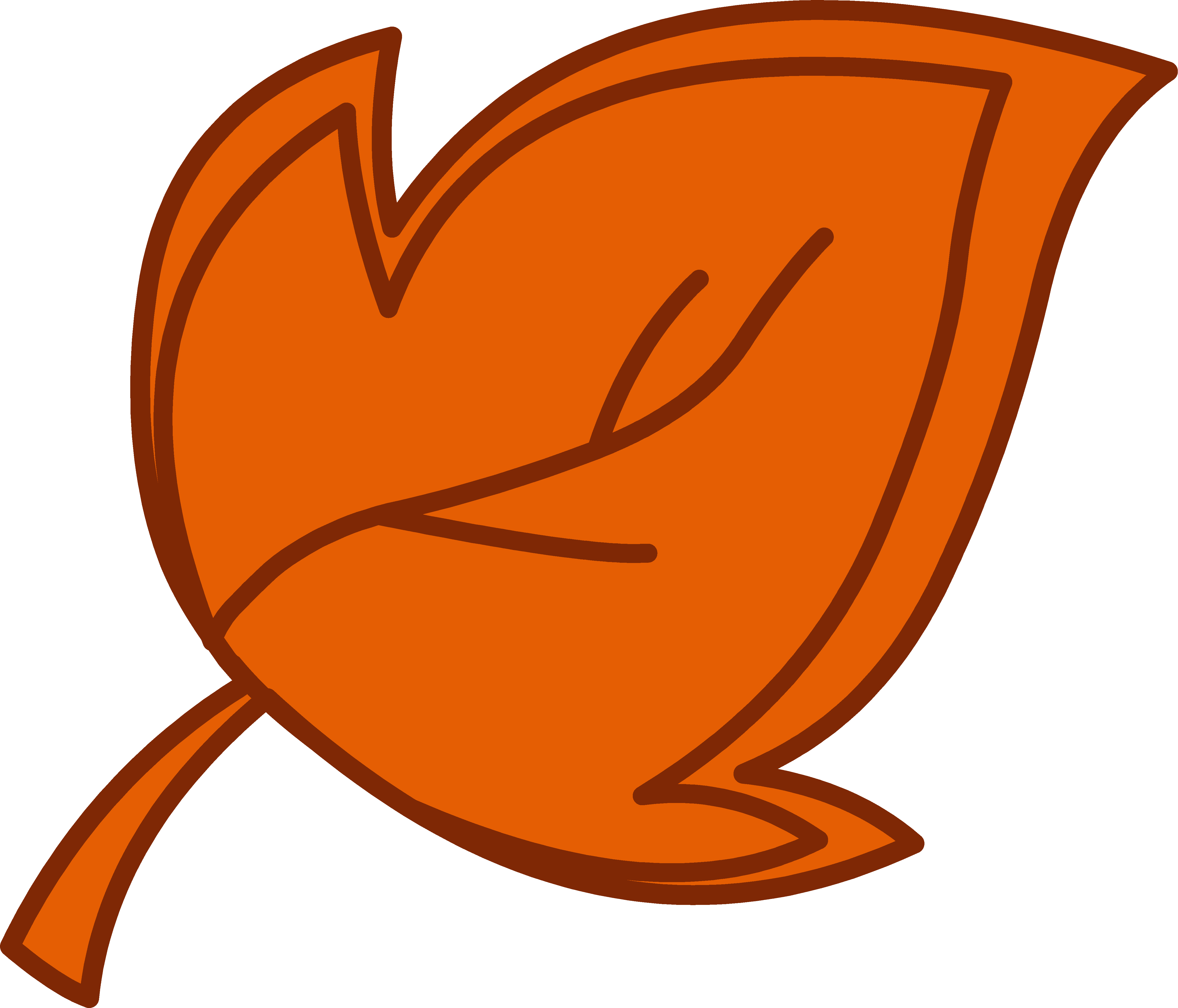 4911x4204 Fall Leaves Clipart
