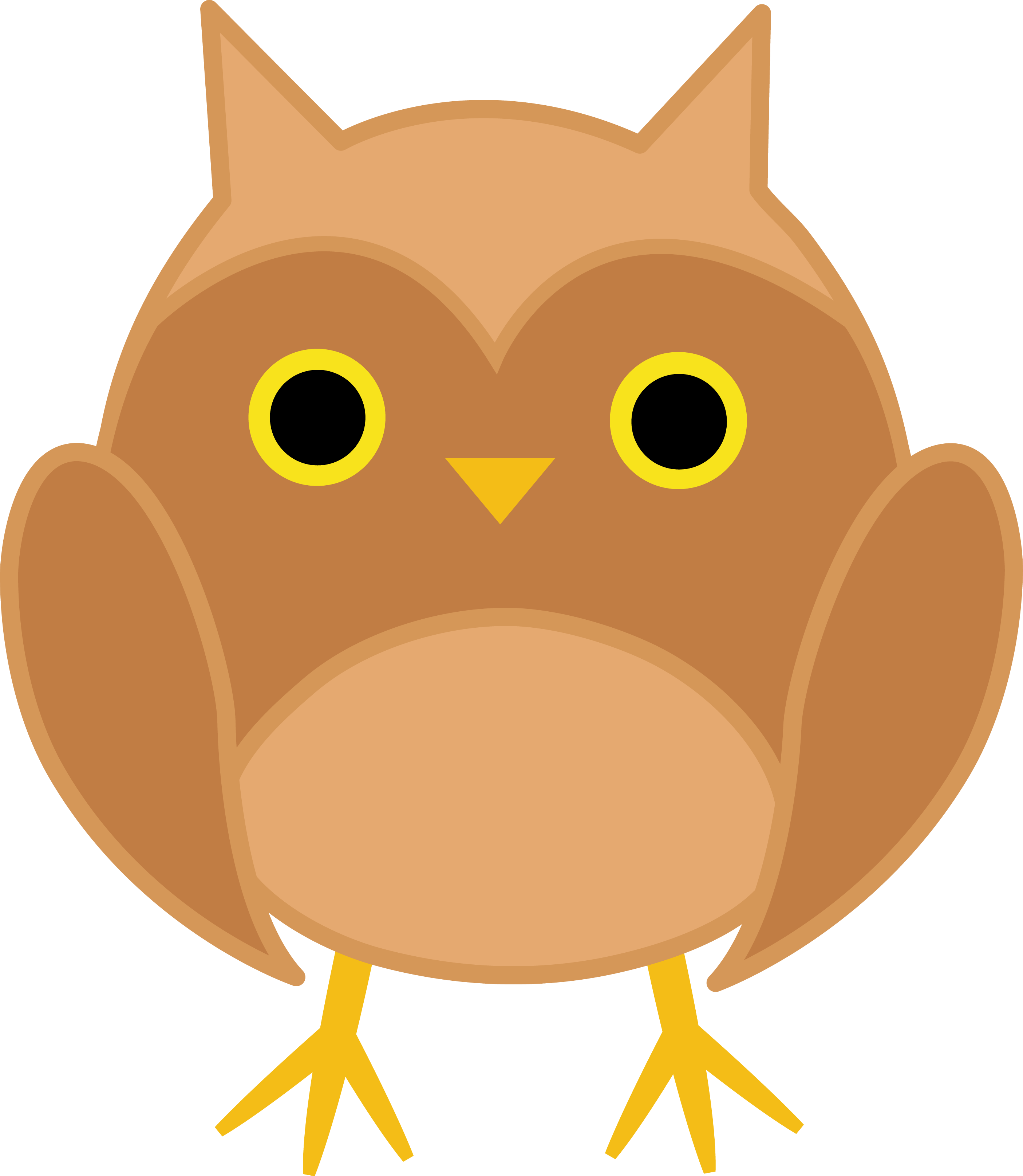 2810x3228 Cute Brown Owl