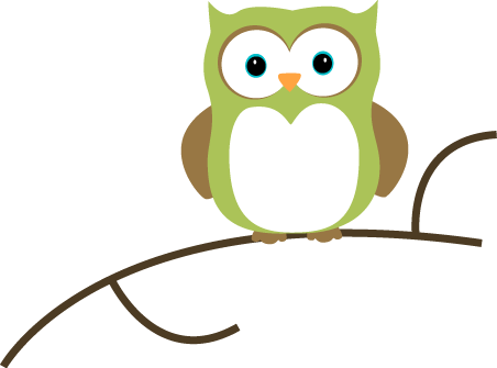 452x335 Owl On A Branch Clip Art