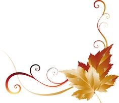 236x204 Fall Leaves Page Border Clipart