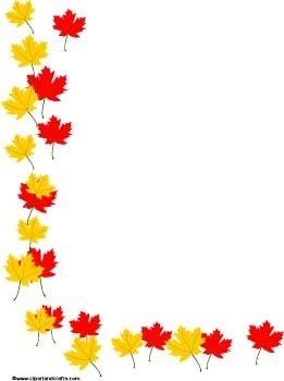 261x350 Fall Leaves Page Border Clipart