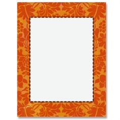 236x236 Pumpkin Spice Border Papers Paper Cards, Envelopes And Layouts