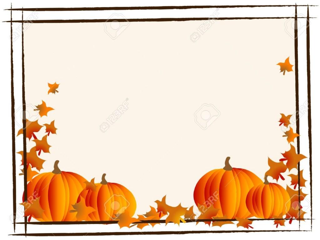1024x768 Pumpkin Boarder Clipart