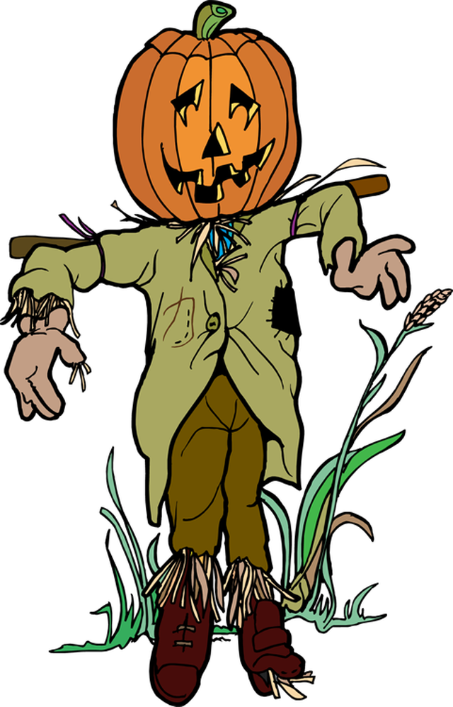 640x998 Scarecrow Scare Crow Clip Art