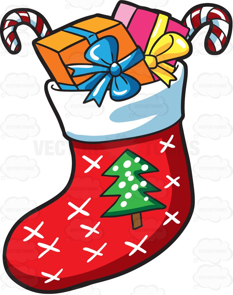 809x1024 A Christmas Sock With Presents Socks, Christmas Tree Images