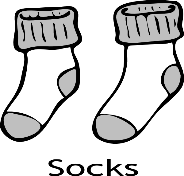 600x573 Fall Socks Cliparts