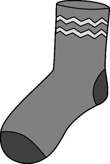 368x550 Gray Sock Clip Art