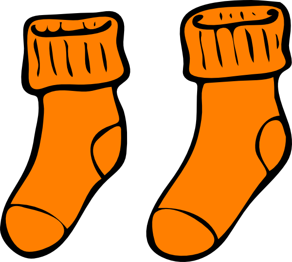 600x539 Orange Sock Clip Art