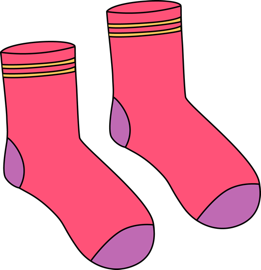 531x550 Pink Pair Of Socks Clip Art