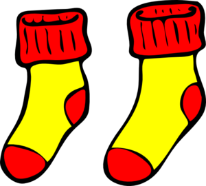 300x270 Red And Yellow Socks Clip Art
