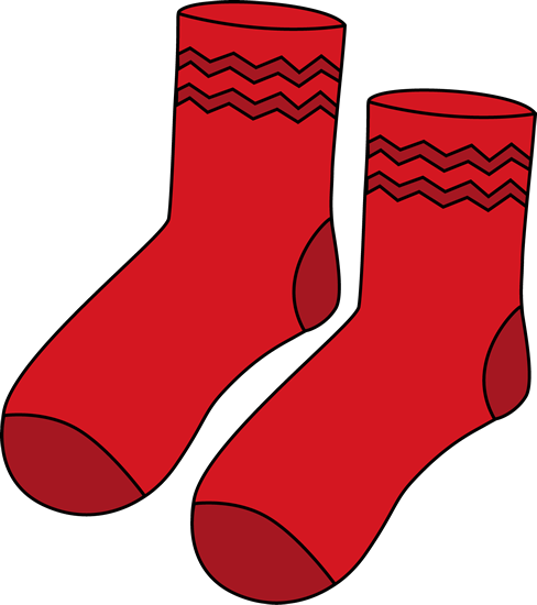 488x550 Red Pair Of Socks Clip Art
